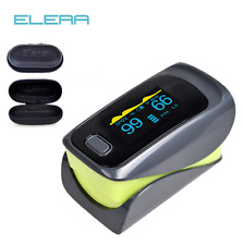 Accurate OLED Finger Tip Pulse Oximeter Blood Oxygen SpO2 PI PR Monitor + Pouch