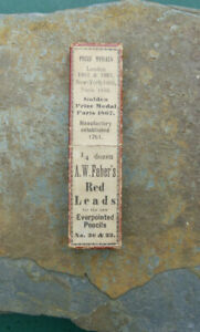 Antique A W Faber Red Leads Pencil Box