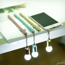 LED Light Bulb Shape Pen Anti Dust Earphone Plug Stopper Cap For Cellphone Acc