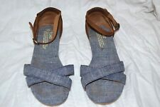 4bdc45b5549d2 Women s TOMS Denim and leather Sandals Flats