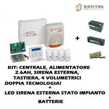 KIT KYO32G ALLARME ANTIFURTO BENTEL KYO32G + SIRENA +4 BMD504 + LED + BATTERIE
