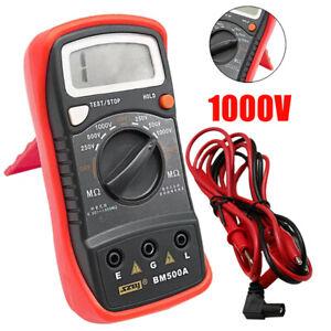 Resistance Tester BM500A 1000V Digital Insulation Meter Megohmmeter Megger Tool