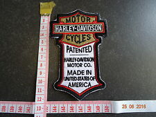 Harley Davidson Classic Silver Logo EMBRODERY Patch badge WONDERFUL