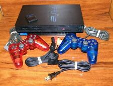 Sony PlayStation 2 Black Console (NTSC) (SCPH-39001) w/ 2 Controllers & Memory