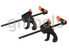 """2Pc Micro Quick Grip Bar Clamp/Spreader 4"""" 100Mm Twin Pack Craft Hobby Tools"""