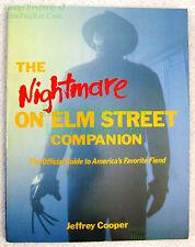 Nightmare On Elm Street Companion Book Official Guide Freddy Krueger Rare Excel!