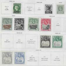 9 St. Helena Stamps from Quality Old Antique Album 1863-1927
