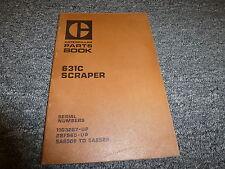 Caterpillar Cat 631C Self Propelled Motor Scraper Parts Catalog Manual Book
