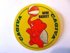 VECCHIO ADESIVO / Old sticker MINI BASKET PALLACANESTRO CAGIVA VARESE (cm 9)