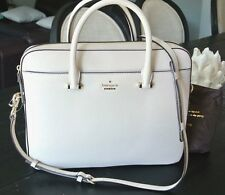 "NWT Kate Spade 13"" Saffiano Laptop purse Bag Case Crossbody Leather crisp linen"