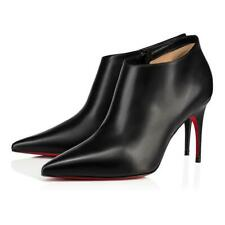 Christian Louboutin Gorgona 85 Black Calf Leather Pointed Toe Ankle Heel Boot 42