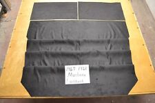 1967 67 1968 68 MUSTANG FASTBACK BLACK CUSTOM SUEDE LOOK HEADLINER USA MADE