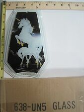 FREE US SHIP OK Touch Lamp Replacement Glass Panel Unicorn Horse & Baby 638-UN5
