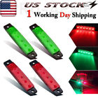 4x3.8 Red Green Boat Running Led Lights Boats Starboard Stern Lights