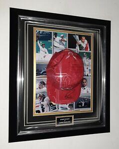 ** LEWIS HAMILTON of Mercedes Signed CAP Autographed Hat Display *** AFTAL