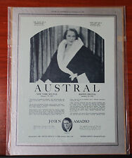 Vintage advertising- Austral, John Amadio flute -1933 Musical America magazine