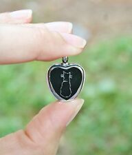 Cat Cremation Jewelry Pendant Urn for Ashes Memorial Gift Black Kitty USA FAST