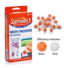 Zensect Moth étuve insectifuge Boules Avec Lavande pack de 20 avec indicateur