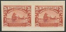 NEW FOUNDLAND #73P4 XF PLATE PROOF ON CARD PAIR BS5103