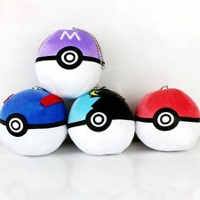 Pokemon Plush Toy Soft Stuffed Master Doll Poke Ball Throw Cushion Gift 4pcs Hot