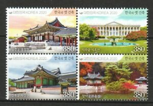 SOUTH KOREA 2020 ROYAL PALACES BLOCK OF 4 STAMPS IN MINT MNH UNUSED CONDITION