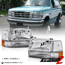 "1992-1996 Ford Bronco F150 F250 F350 ""FACTORY STYLE"" 6P Corner Bumper Head Light"