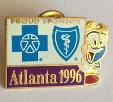 Atlanta 1996 Proud Sponsor Hospital Olympic Games Pin Badge Rare Vintage (F1)