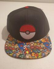 Pokemon Go Pokeball Pikachu Charizard Squirtle SnapBack Hat RN# 115665