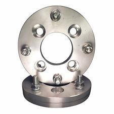"4x110 to 4x100 US Made Wheel Adapters 12x1.5 Lug Studs Spacers x 2 hub 1"" Thick"