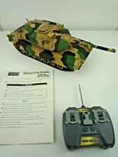 "REMOTE CONTROLLED / RC MAIN BATTLE TANK M1A2 ABRAMS 1/24TH SCALE / 14"" LONG"