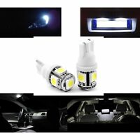2 AMPOULES W5W LED BLANC XENON ECLAIRAGE PLAQUE VEILLEUSE VERSION 5 LEDS