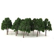 25x Plastic Model Trees Dark Green Miniature Trees for Model Railway N Scale