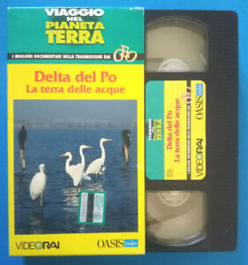 VHS Documentario VIAGGIO NEL PIANETA TERRA Delta Del Po Terra Delle Acque (V155)