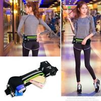 Running Belt With Water Bottle Waist Bag Zipper Pockets For Hiking Cycling Gym