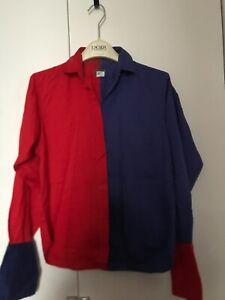 KENZO Gr. 38 - lässige Bluse - Baumwolle - rot & blau - sehr stylisch BoHo - TOP