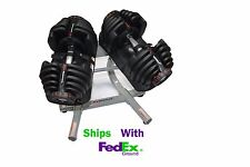 BRAND NEW Bowflex SelectTech 1090 Adjustable Dumbbells Set of Two & 2 - 1 Stand