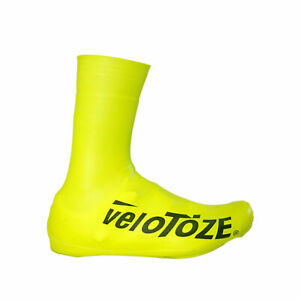 VeloToze Bicycle Shoe Covers V2.0, Wind&Waterproof, Tall, Yellow, Large