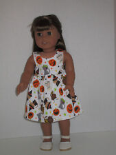 """Cat Witches & Pumpkins Halloween Sundress for 18"""" Doll Clothes American Girl"""