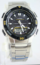 Casio AQ-S800WD-1EV Men's Watch SOLAR POWER World Time 5 Alarms 100M WR New