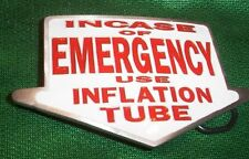 CASE EMERGENCY USE INFLATION TUBE BELT BUCKLE BUCKLES