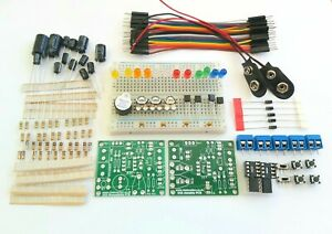 555 Timer Beginners Electronics Prototyping Breadboard Kit PCB - 2 Full 555 Kits