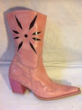 Bronx Pink Ankle Leather Boots Size 39