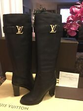 Authentic LOUIS VUITTON  Women's Boots LEGACY High Heels Shoes. Size 40.