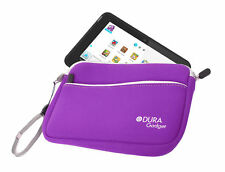 "8"" Purple Neoprene Carry Case For Kurio 7S With Wrist Strap & Pocket"