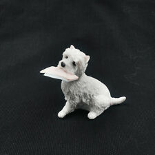 Resin mini West Highland White Terrier dog Hand Painted simulation model Statue