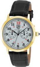 New Mens S Coifman SC0363 White Dial 42mm Black Leather Swiss Quartz Watch