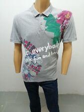 Polo DESIGUAL Uomo taglia size XL maglia maglietta manica corta t-shirt  p 5638