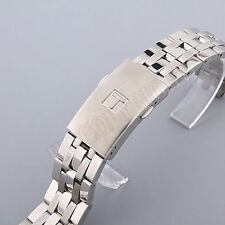 New 19mm Silver Stainless Steel Replacement Watch Band Strap Bracelet Solid Link