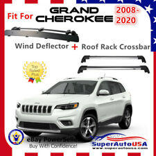 Top Roof Rack Fits Jeep Cherokee 2008-2020 Luggage Crossbar+Wind Deflector