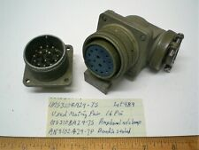 1 Ms3108a24 7s Military Connector Mating Pair Size 24 Amphenol Lot 489 Made Usa